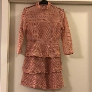 Pink lace SheIn sleeve dress